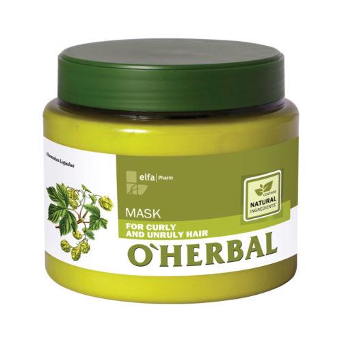 Maschera per Capelli Ricci - O'Herbal - 500ml