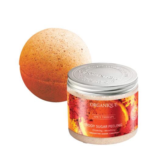 Promozione Arancio e Cannella Peeling e Sfera da Bagno in Regalo