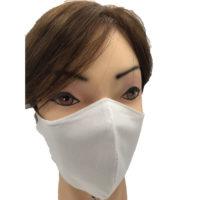 mascherina in cotone bianca