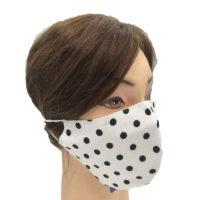 Mascherina Protettiva in Cotone a Pois